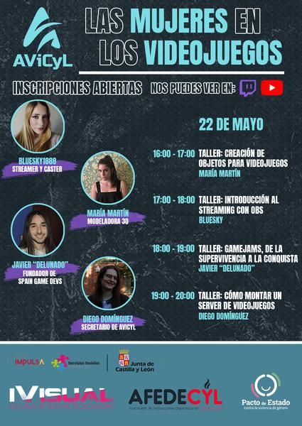 Cartel del evento las Mujerees y los vieojegos - Jornada 2